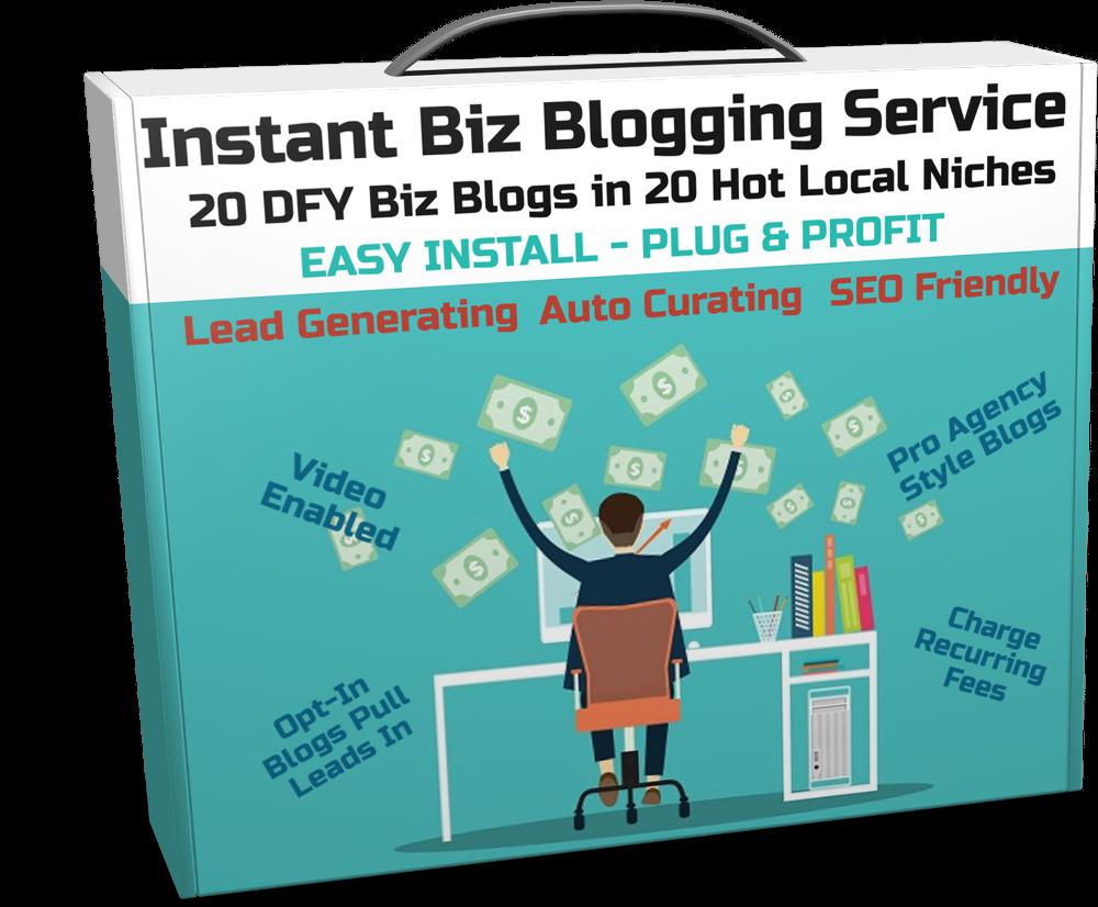 Instant Biz Blogging Service